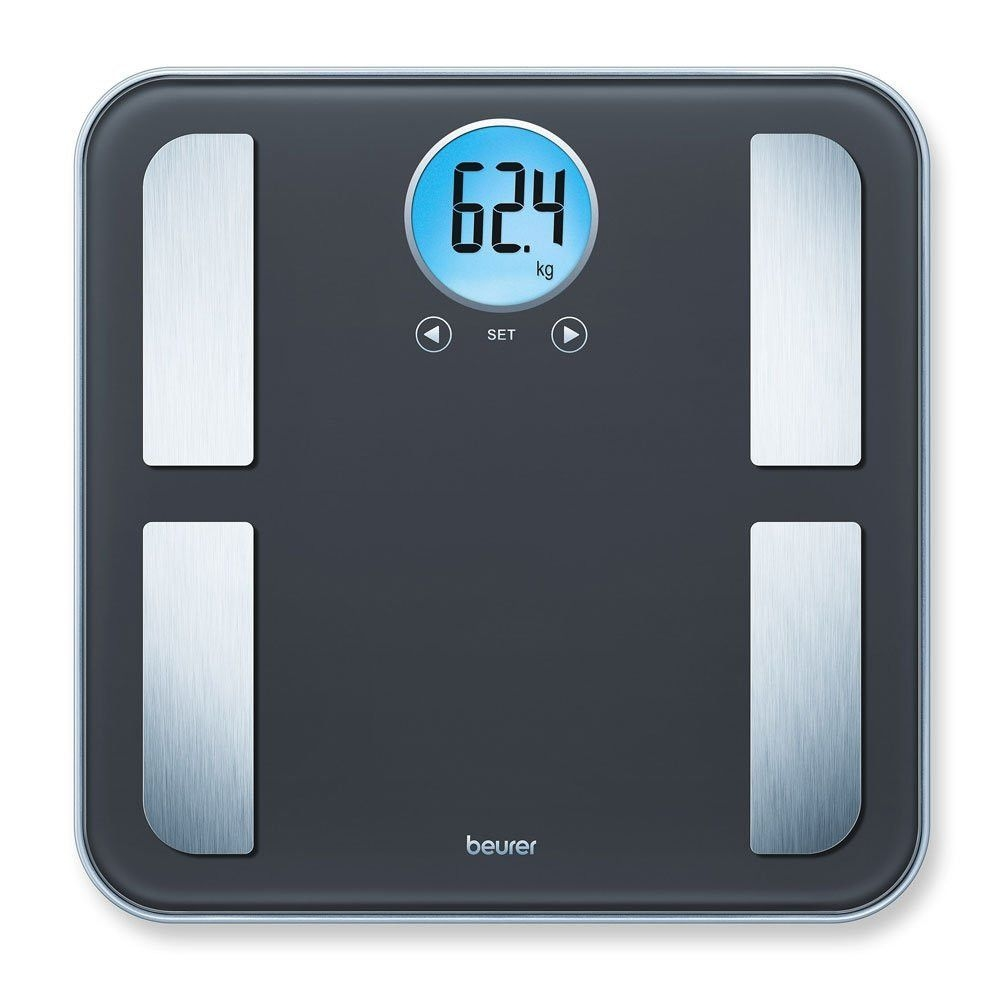 Beurer Bf 195 Diagnostic Bathroom Scale Round Lcd Display