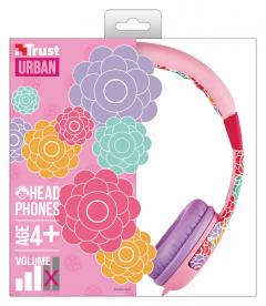 TRUST Spila Kids Headphone - flower