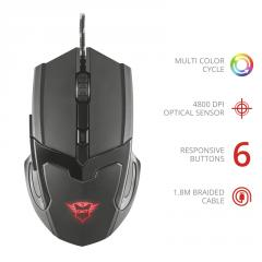 TRUST GXT 101 Gav Gaming Mouse Black