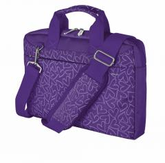 TRUST Bari Carry Bag for 13.3 laptops - purple hearts