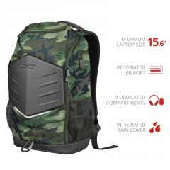 "TRUST GXT 1255 Outlaw 15.6"" Gaming Backpack - camo"