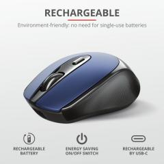 TRUST Zaya Wireless Rechargeable Mouse Blue
