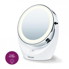 Beurer BS 49 lluminated cosmetic mirror; 12 LEDs; 5 x zoom; 2 mirrors; 11 cm