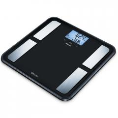 Beurer BF 850 diagnostic bathroom scale in black; Extra-large standing surface; Weight