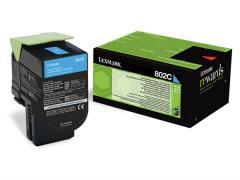 Lexmark 802C Cyan Return Program Toner Cartridge