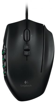 LOGITECH Gaming Mouse G600 MMO - EER2 - Orient Packaging - BLACK
