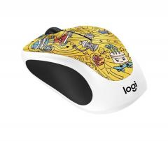 Logitech Doodle Collection - M238 Wireless Mouse - GO-GO GOLD