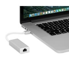 Moshi USB-C to Gigabit Ethernet Adapter - Silver