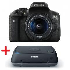 Canon EOS 750D + EF-S 18-55 IS STM + Canon Connect Station CS100