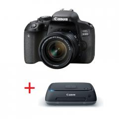 Canon EOS 800D + EF-S 18-55 IS STM + Canon Connect Station CS100