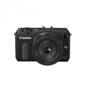 Canon EOS-M black + 18-55mm IS STM + 22mm STM