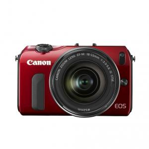 Canon EOS-M red 18-55IS STM