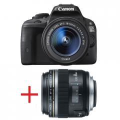 Canon EOS 100D + EF-s 18-55 IS STM + карта Toshiba SD 8GB Wi-fi + Canon LENS EF-S 60mm f/2.8