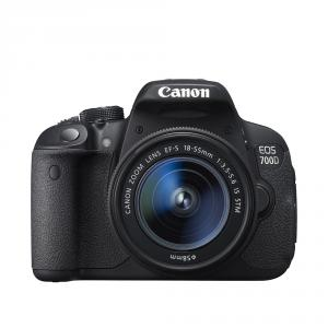 Canon EOS 700D + EF-S 18-55 IS STM + Canon Gadget Bag 300EG + 8GB Wi-Fi card