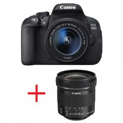 Canon EOS 700D + EF-S 18-55 IS STM + карта Toshiba SD 8GB Wi-fi + Canon LENS EF-S 10-18mm