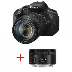 Canon EOS 700D + EF-s 18-135mm IS STM + Canon LENS EF 50mm f/1.8 II