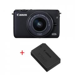 Canon EOS M10 black + EF-M 15-45mm IS STM + Canon battery pack LP-E12 for EOS-M
