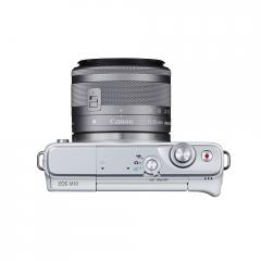 Canon EOS M10 white + EF-M 15-45mm IS STM + Canon battery pack LP-E12 for EOS-M