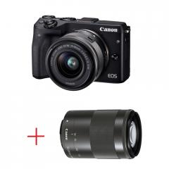 Canon EOS M3 black +  EF-M 15-45mm IS STM black + EF-M 55-200mm f/4.5-6.3 IS STM