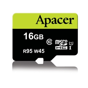 Apacer 16GB Micro-Secure Digital HC UHS-I 95/45 Class 10 (1 adapter)