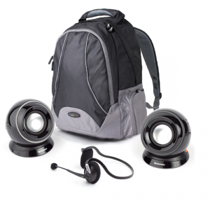 Lenovo 15.6 Backpack B450 Black + Speakers M0520 Black + Headset P560 Black