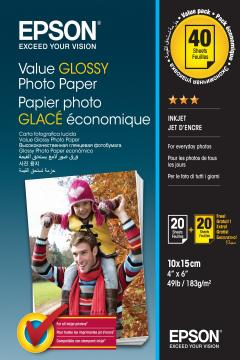 Value Glossy Photo Paper 10x15cm BOGOF