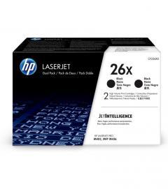 Консуматив HP 26X Original LaserJet cartridge; black; 9000 Page Yield ; 2 - pack; HP