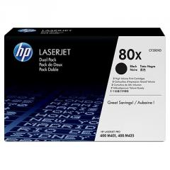 HP 80X Black Dual Pack LaserJet Toner Cartridges