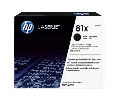 Консуматив HP 81X Original LaserJet cartridge; black; 25000 Page Yield ; 1 - pack; HP