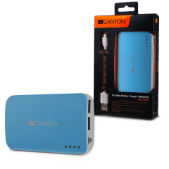 CANYON CNE-CPB78BL Blue color portable battery charger with 7800mAh