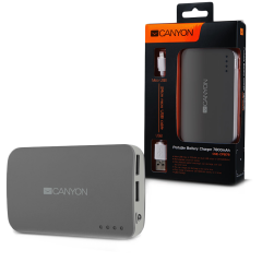 CANYON CNE-CPB78DG Dark grey color portable battery charger with 7800mAh