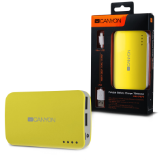 CANYON CNE-CPB78Y Yellow color portable battery charger with 7800mAh