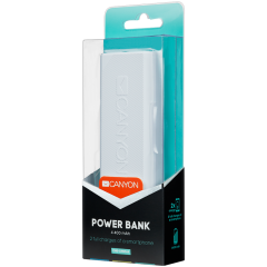 CANYON Power bank 4400mAh (Color: White)