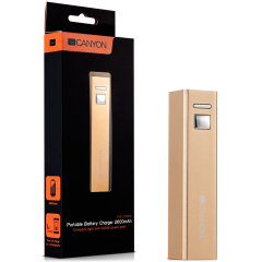 CANYON CNE-CSPB26GO Aluminium compact battery charger. Color: golden