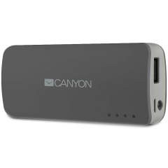 CANYON CNE-CPB44DG Dark grey color portable battery charger with 4400mAh
