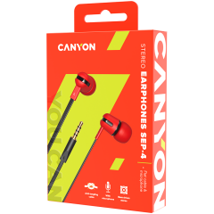 CANYON Stereo earphone with microphone