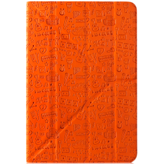 "Life is universal case for 8"" tablet (Color:Orange)"