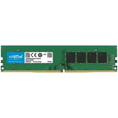 Crucial DRAM 4GB DDR4 2666 MT/s (PC4-21300) CL19 SR x8 UDIMM 288pin