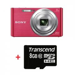 Sony Cyber Shot DSC-W830 pink + Transcend 8GB micro SDHC (No Box & Adapter - Class 10)