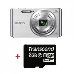 Sony Cyber Shot DSC-W830 silver + Transcend 8GB micro SDHC (No Box & Adapter - Class 10)