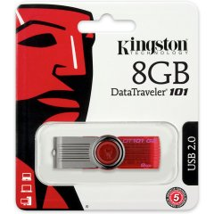 Kingston  8GB DataTraveler 101 Gen 2 (Capless/ Red)