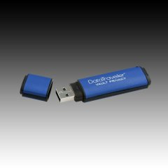 KINGSTON 8GB USB 2.0 DataTraveler Vault Privacy Aluminium Blue