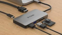 D-Link 6-in-1 USB-C Hub with HDMI/Card Reader/Power Delivery
