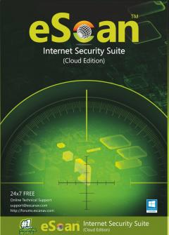 eScan Internet Security Suite with Cloud Security 2 user/1 year
