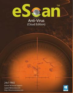 eScan Anti-Virus  with Cloud Security 1 user/1 year (For Windows) - Activate Link: