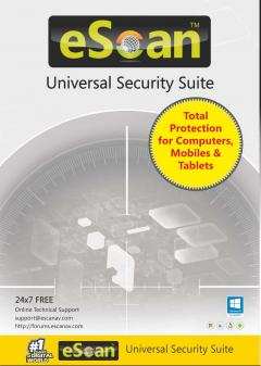 eScan Universal Security Suite (4-device License) - 1 year (Multi-device License)