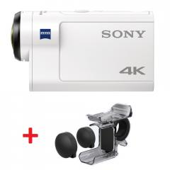 Sony FDR-X3000R 4K Action CAM with Wi-Fi & GPS +  Fingergrip AKA-FGP1 + Sony CP-V3 Portable power