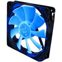GELID 12 PL Blue 120mmx15.8mm PWM Fan with 4 Blue LED