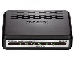 Суич D-Link GO-SW-5G/E неуправляем 5-Port 10/100/1000Mbps Copper Gigabit Ethernet