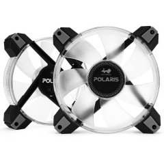 IN WIN POLARIS 12cm RGB LED FAN x 2pcs/8-8PIN CONNECTINGWIRE 800mm x 1pcs+100mm x 1PCS/4-PIN